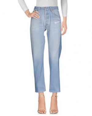 Джинсовые брюки RE/DONE by LEVI'S. Цвет: синий