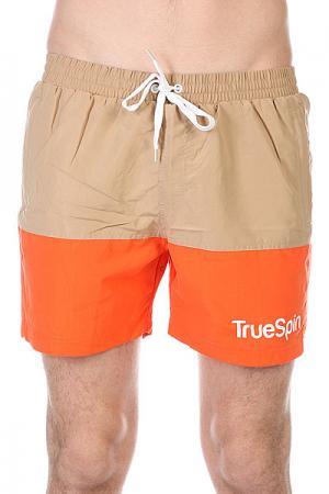 Шорты пляжные  Swimming Shorts Splash Two Beige/Orange TrueSpin. Цвет: бежевый,оранжевый