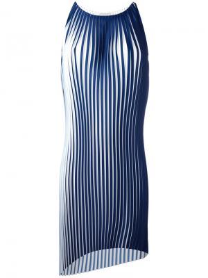Плиссированное платье-топ Stefano Mortari. Цвет: синий