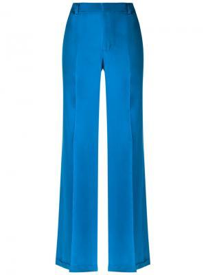 Silk trousers Reinaldo Lourenço. Цвет: синий
