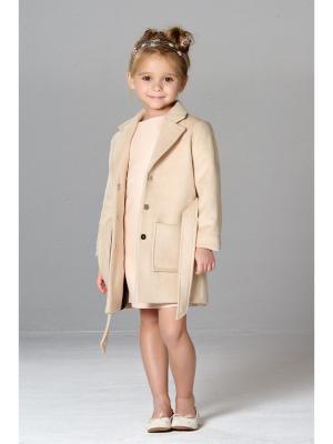 Классическое пальто MORU. Цвет: кремовый