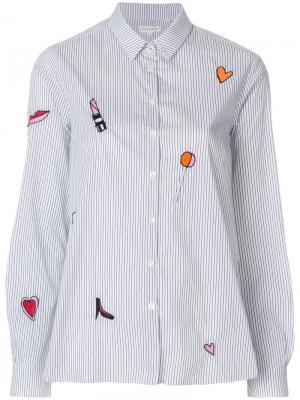 Рубашка с вышивкой Lolita Purse Chinti & Parker. Цвет: синий