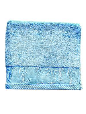Полотенце Бамбук 50х90. La Pastel. Цвет: голубой