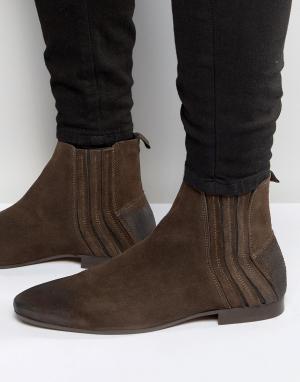 Hudson London Замшевые ботинки челси Larner. Цвет: коричневый