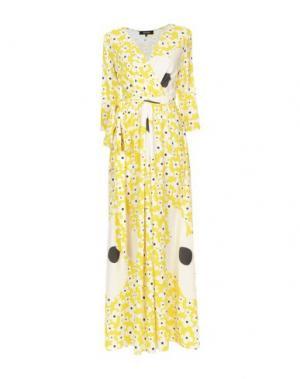 Длинное платье POUSTOVIT. Цвет: желтый