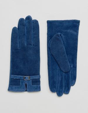 Barney's Originals Перчатки из натуральной кожи Barneys. Цвет: темно-синий