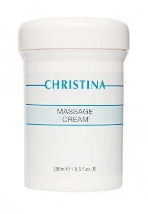 Массажный крем Christina. Цвет: белый
