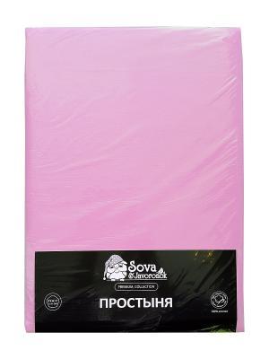 Простыня 2 сп. Sova and Javoronok. Цвет: фиолетовый