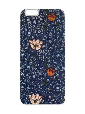 Чехол для iPhone 6 Тюльпаны на синем Chocopony. Цвет: темно-синий, темно-зеленый, темно-серый