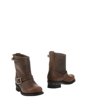Полусапоги и высокие ботинки FRYE. Цвет: темно-коричневый