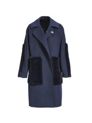 Пальто APART. Цвет: темно-синий