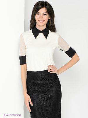 Блузка SUGARLIFE. Цвет: молочный, черный