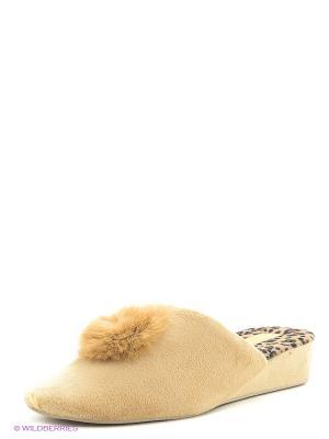 Тапочки женские Dream Feet. Цвет: бежевый
