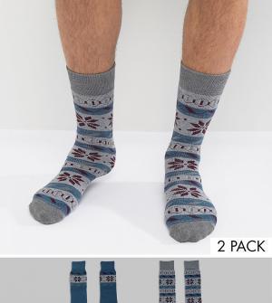 Totes Две пары носков Original. Цвет: синий