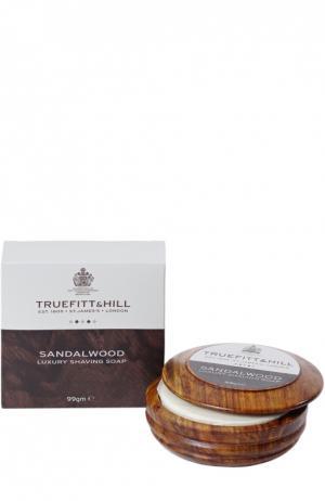 Люкс-мыло для бритья в деревянной чаше Sandalwood Truefitt&Hill. Цвет: бесцветный