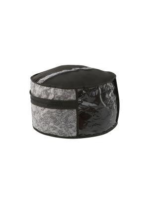 Чехол для шапок, d-35см Ажур COFRET. Цвет: серый, черный