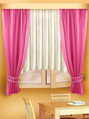 Комплект штор ZLATA KORUNKA. Цвет: бордовый