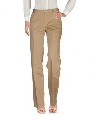 Повседневные брюки KITON. Цвет: песочный