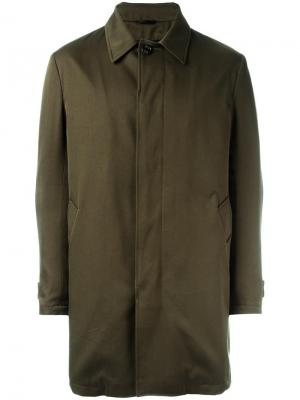 Пальто с потайной застежкой Sealup. Цвет: зелёный