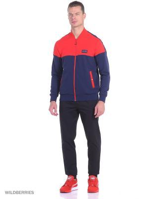 Толстовка RBR Sweat Jacket Puma. Цвет: синий, красный