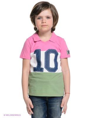 Футболка Gulliver. Цвет: бледно-розовый