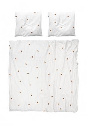 Комплект постельного белья 2-спальный Snurk. Цвет: белый