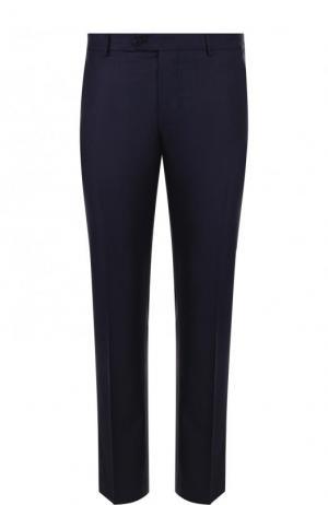 Шерстяные брюки свободного кроя Berwich. Цвет: темно-синий