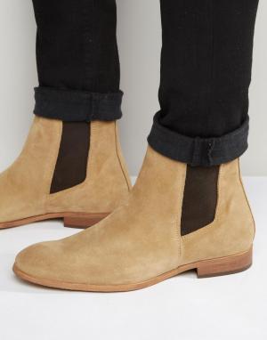 Zign Замшевые ботинки челси. Цвет: бежевый