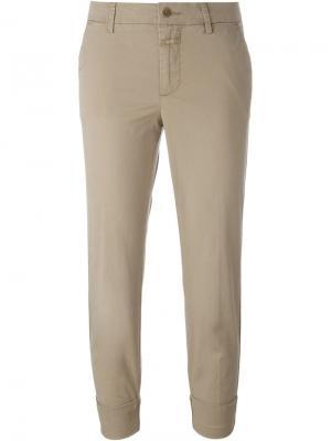 Укороченные брюки-чинос Closed. Цвет: телесный