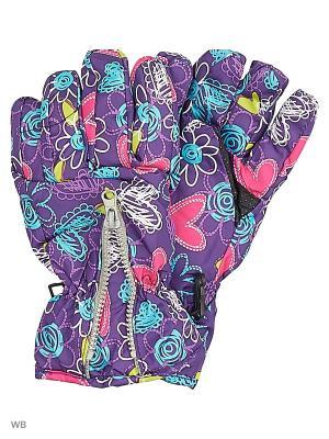 Перчатки Mini. Цвет: фиолетовый