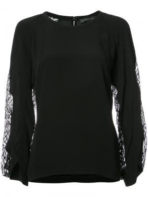 Sheer panel blouse Barbara Bui. Цвет: чёрный