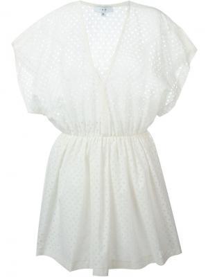 Платье в горох Genna Iro. Цвет: телесный