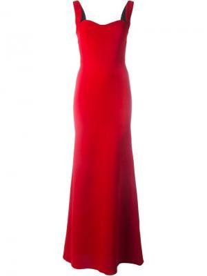 Вечернее платье Victoria Beckham. Цвет: красный