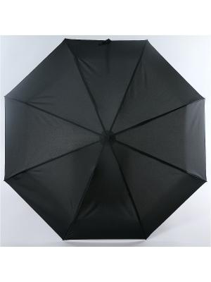 Зонт Magic Rain Мужской, 4 сложения, Полный Автомат, Полиэстер. Цвет: черный