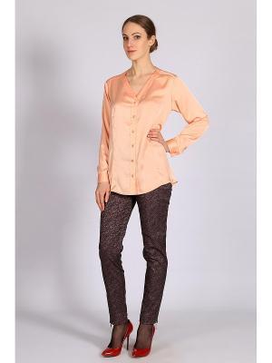 Блузка FLEURETTA. Цвет: персиковый