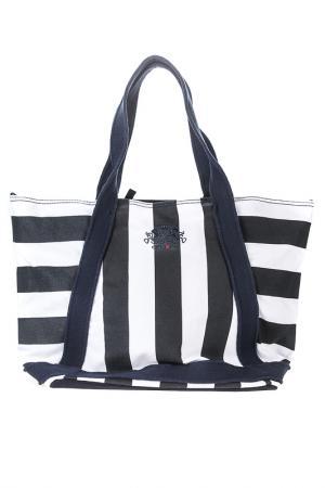 Пляжная сумка Otto Kern. Цвет: blue, white