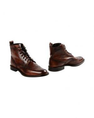 Полусапоги и высокие ботинки LEONARDO PRINCIPI. Цвет: какао