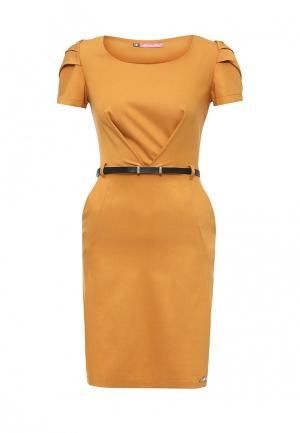 Платье Bezko. Цвет: оранжевый