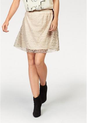 Юбка Aniston. Цвет: кремовый