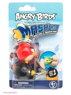 Детская игрушка Сердитые Птички, игрушки-мялки, 2 шт. в наборе ANGRY BIRDS. Цвет: голубой, красный, черный