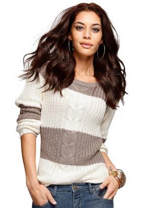 Пуловер Arizona. Цвет: серо-коричневый/цвет белой шерсти, темно-синий/черный, черный/темно-серый