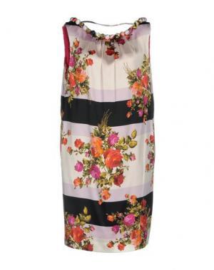Короткое платье IVAN MONTESI. Цвет: белый