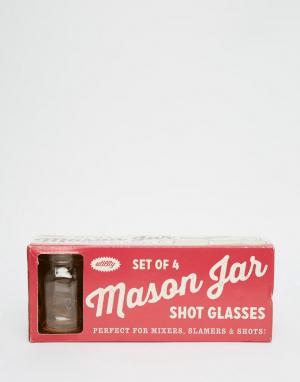 Temerity Jones Набор стопок Mason Jar. Цвет: мульти