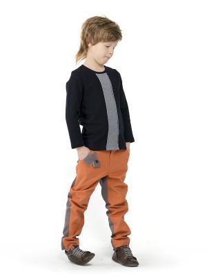 Брюки Акульи Sardina Baby. Цвет: оранжевый, серый
