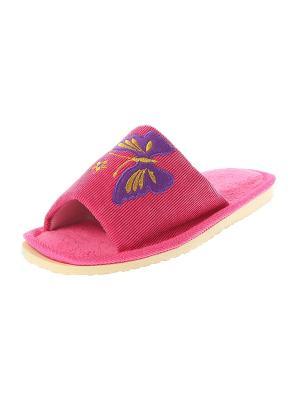 Тапочки домашние Migura. Цвет: розовый, желтый, фиолетовый, бежевый