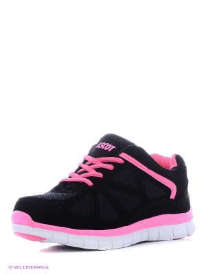 Кроссовки Ascot. Цвет: черный, розовый