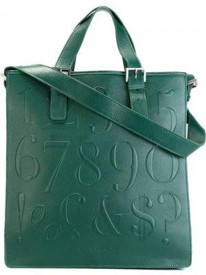Плоская сумка-тоут Didot Assouline. Цвет: зелёный