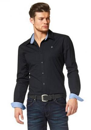 Рубашка BRUNO BANANI. Цвет: черный