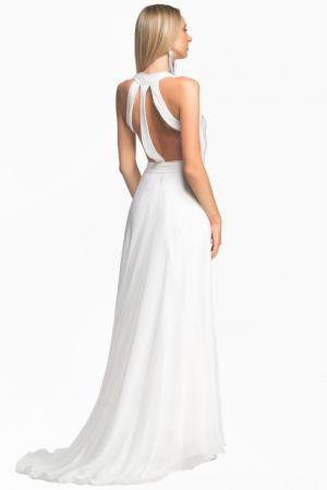 Платье из шелка 148644 Lolita Shonidi. Цвет: белый