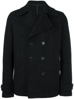 Двубортное пальто Harris Wharf London. Цвет: серый
